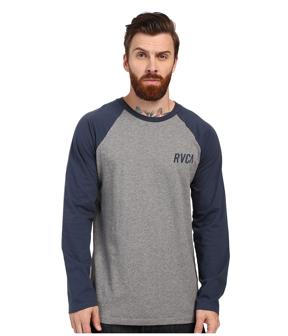 RVCA - Outfield Raglan (Grey Noise) Men's Clothing