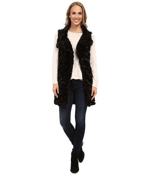 Dylan by True Grit - Long Silky Fur Vest (Black) Women's Vest
