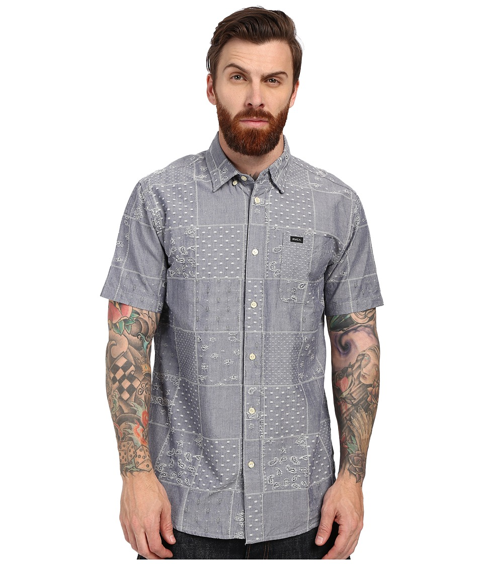 RVCA - That'll Do Paisley Woven (Neptune Blue) Men's Clothing