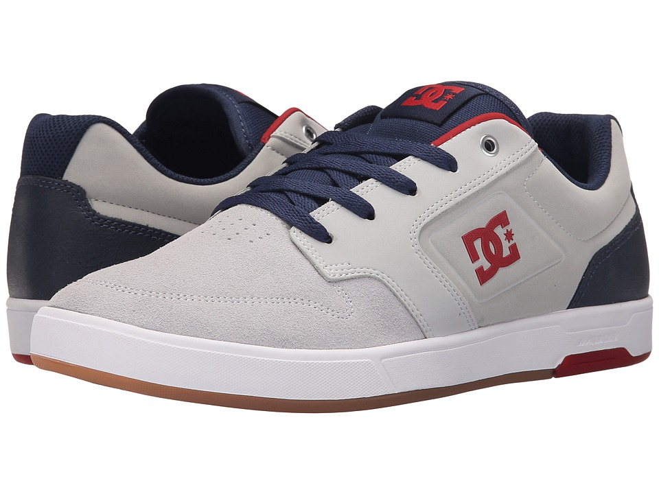 DC - Argosy (Light Grey/True Red) Men's Lace up casual Shoes