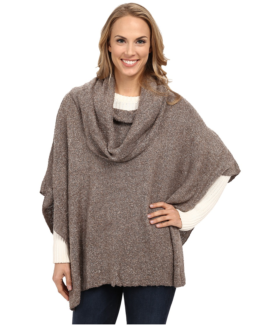 Dylan by True Grit - Silky Boucle Free Spirit Sweater Poncho (Birch) Women's Sweater