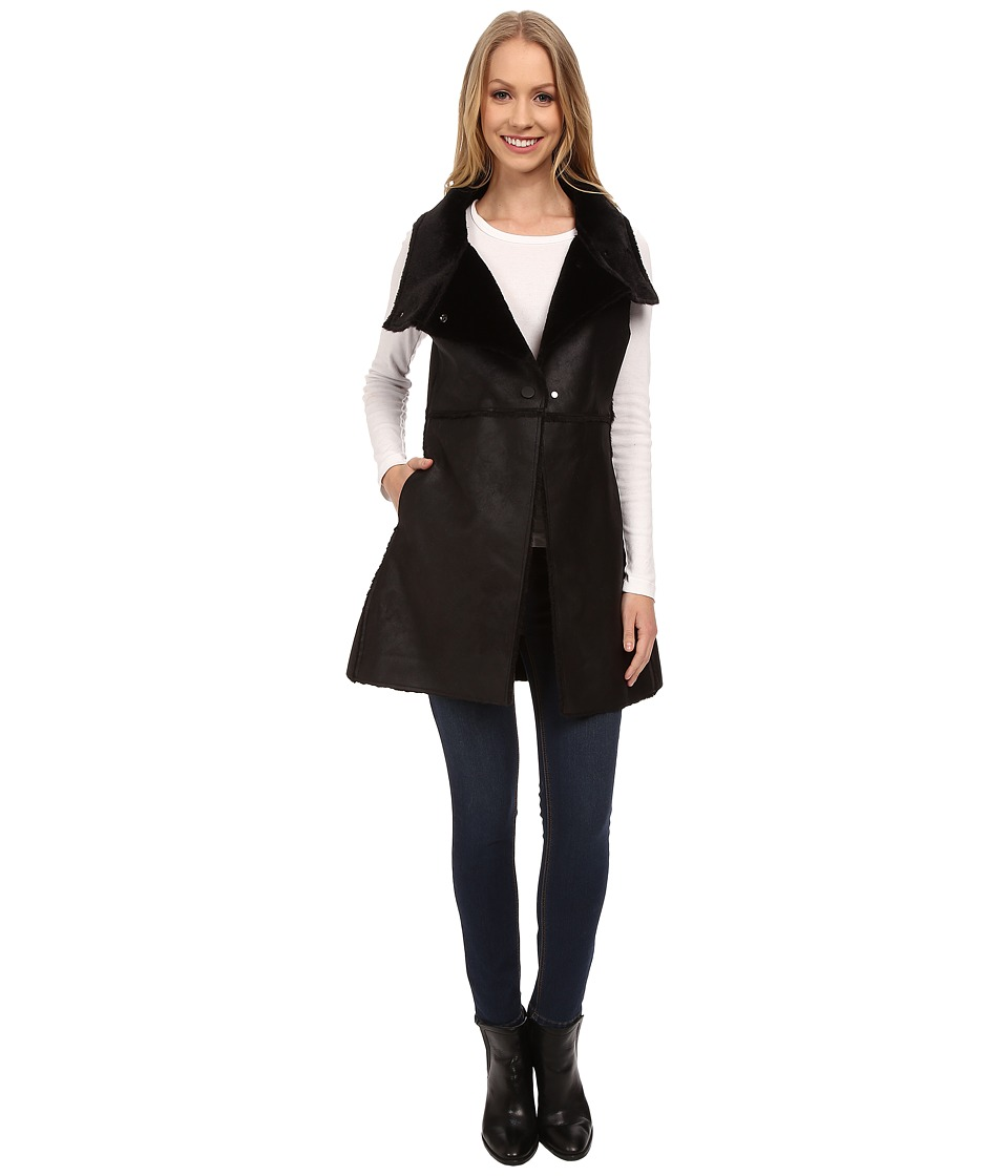 Dylan by True Grit - Vintage Shearling Long Vest (Vintage Black) Women's Vest