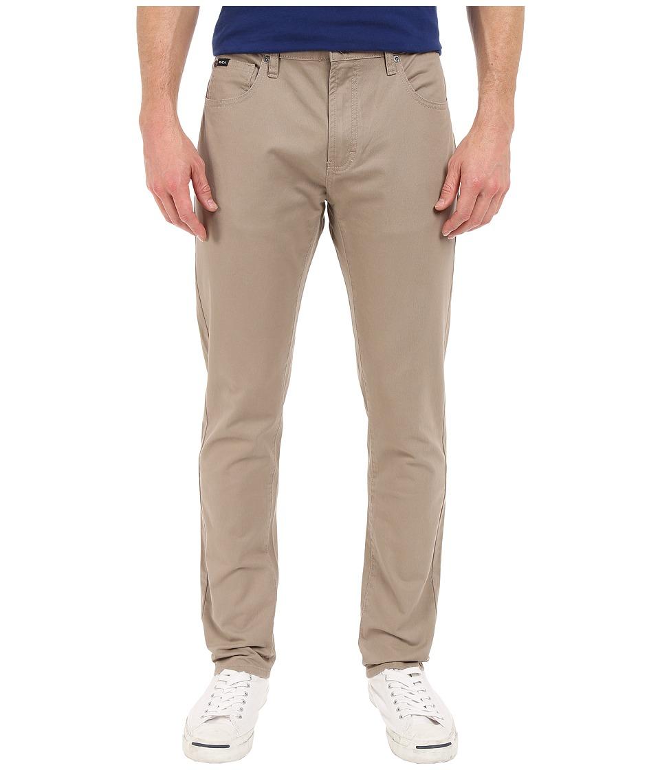 RVCA - Daggers Twill Pants (Dark Khaki) Men's Casual Pants