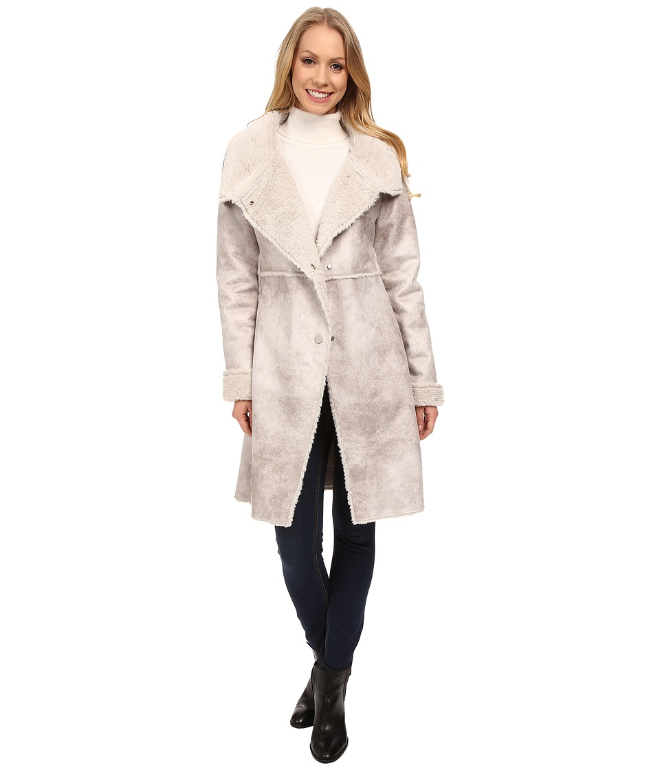 Dylan by True Grit - Vintage Shearling Long Coat (Vintage Natural) Women's Coat plus size,  plus size fashion plus size appare