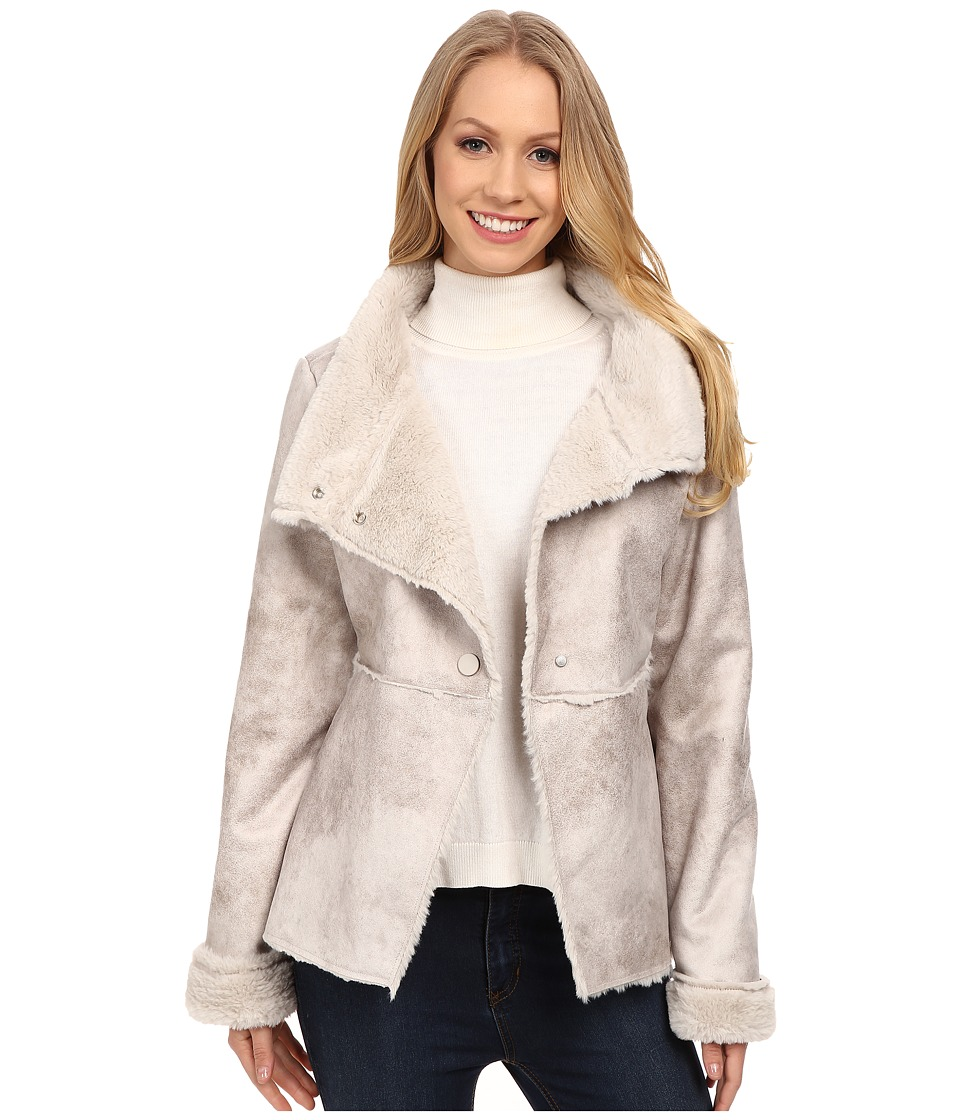 Dylan by True Grit - Vintage Shearling High-Low Jacket (Vintage Natural) Women's Coat