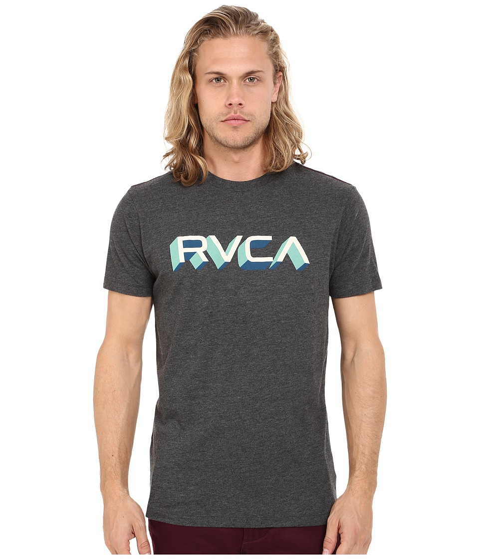 RVCA - Third Dimension Tee (Black) Men's T Shirt