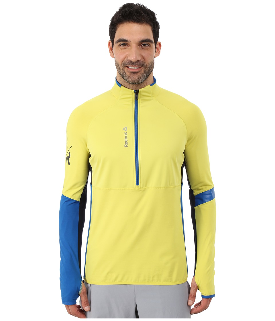 Reebok - ONE Series 1/2 Zip Jacket (Chartreuse/Chartreuse) Men's Sweatshirt