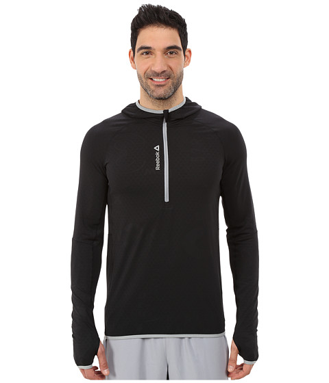 Reebok - ONE Series 1/4 Zip Sweatshirt (Black) Men's Sweatshirt
