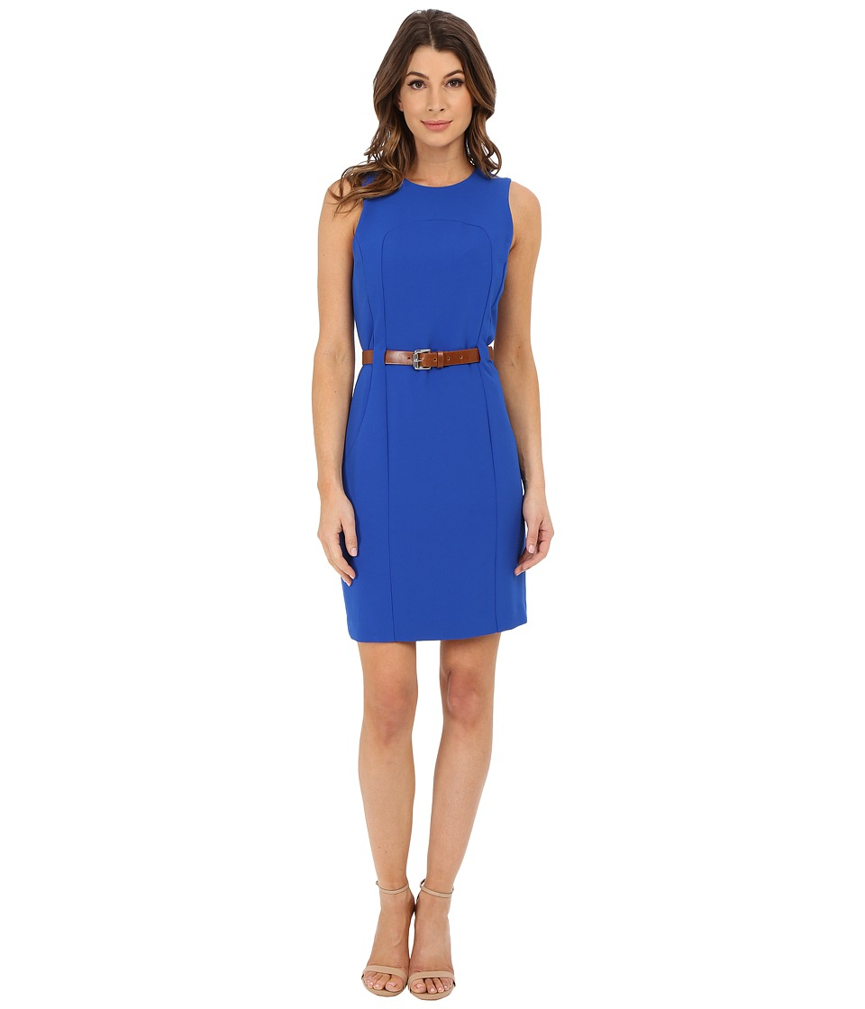 MICHAEL Michael Kors - Fitted Seam Dress (Amalfi Blue) Women's Dress