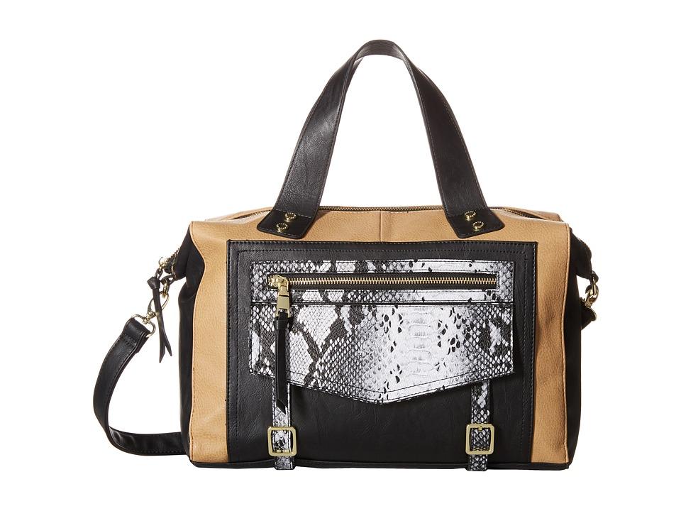 Steve Madden - Bluna Satchel (Taupe/Black/Taupe Snake) Satchel Handbags