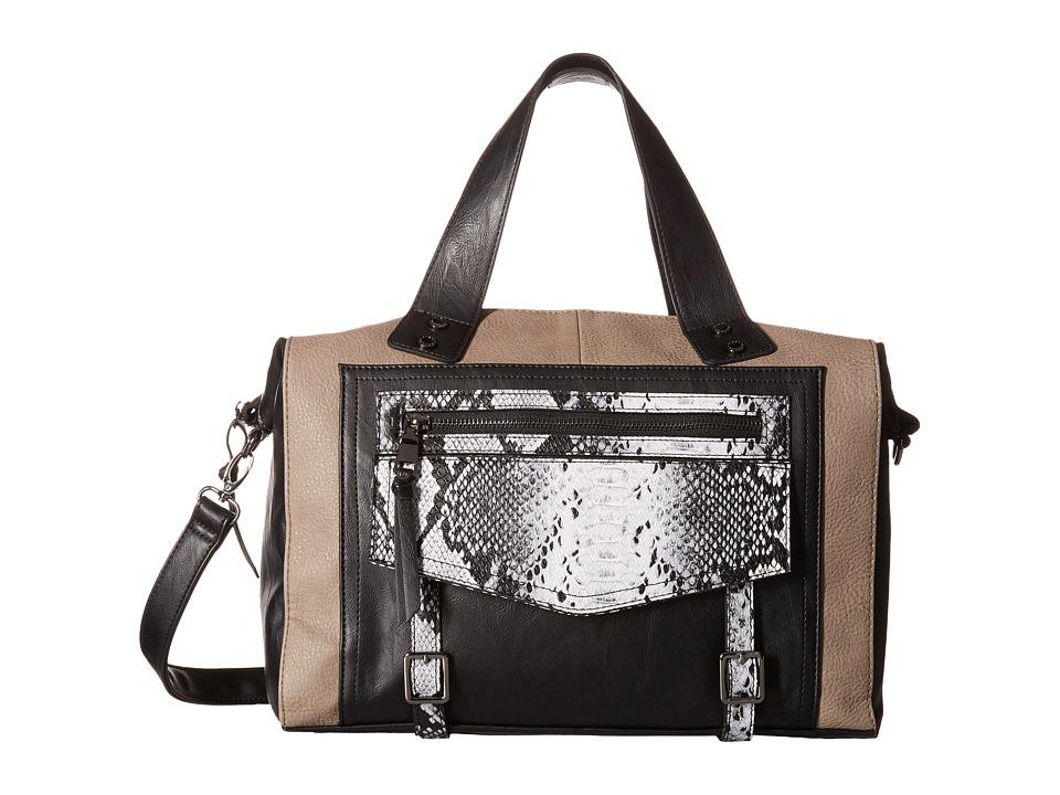 Steve Madden - Bluna Satchel (Smoke/Black/Black Snake) Satchel Handbags