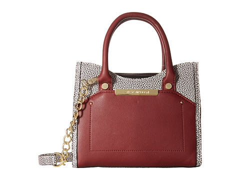 Steve Madden - Mini Brosey (Wine/Splice/Black) Satchel Handbags