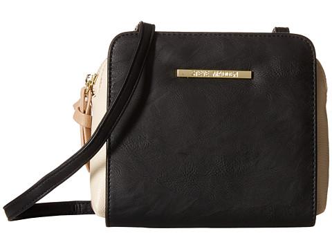 Steve Madden - Bduo Satchel (Black/Cream/Taupe) Cross Body Handbags