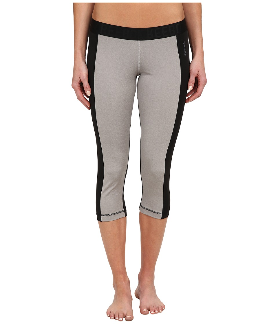 Reebok - Workout Ready Capris (Medium Heather Grey) Women
