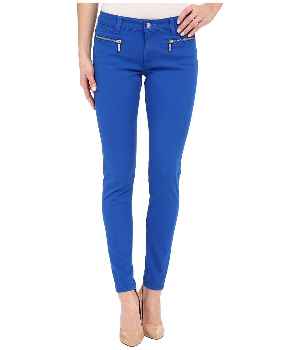 MICHAEL Michael Kors - Denim Color Skinny with Zip (Amalfi Blue) Women's Clothing