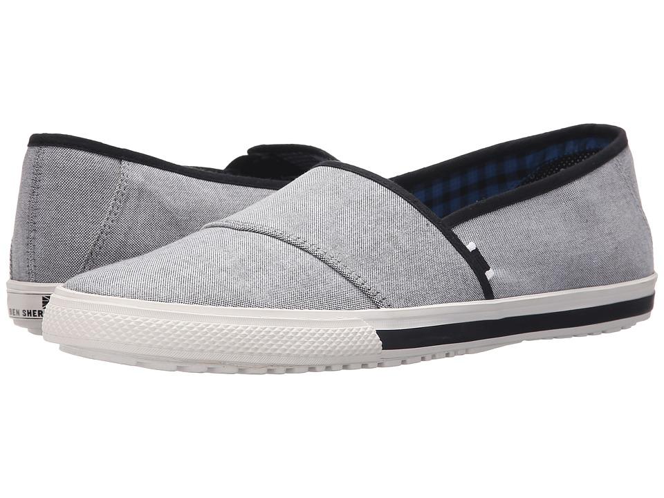 Ben Sherman - Chandler Sport Slide (Black Chambray) Men's Slip on Shoes