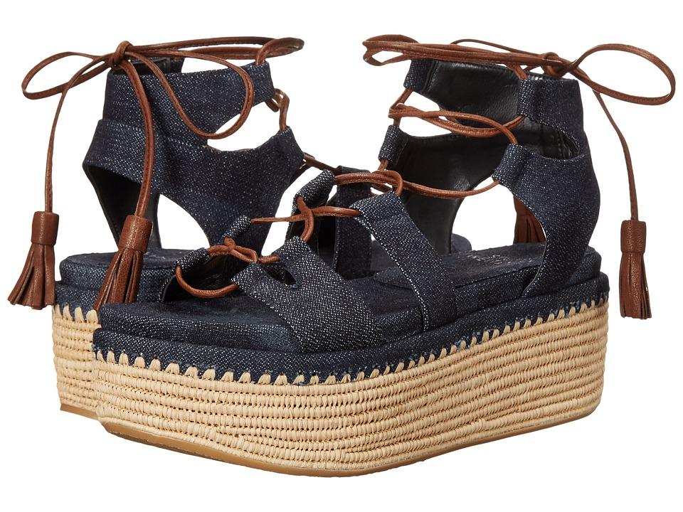 Stuart Weitzman - Romanesque (Navy Antique Denim) Women's Sandals