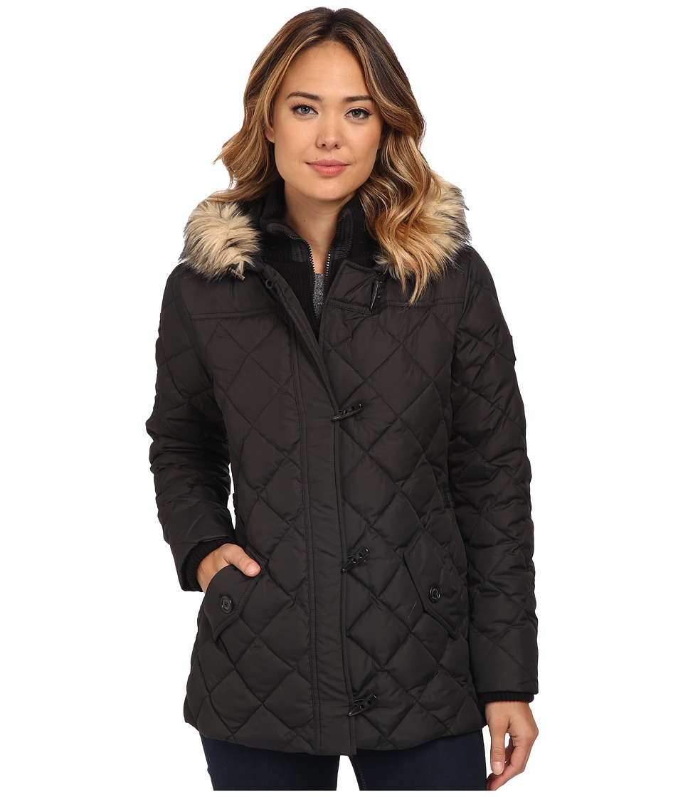 LAUREN Ralph Lauren - Knit Vesty Toggle (Black) Women's Coat