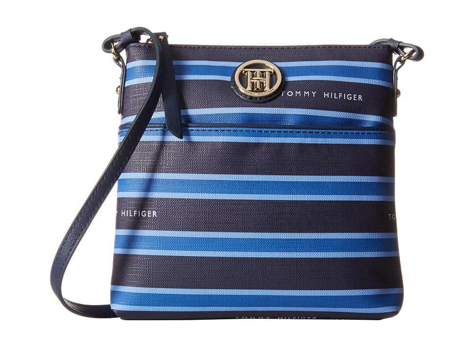 Tommy Hilfiger - Hayden North/South Crossbody (Navy/Monaco Blue/French Blue) Cross Body Handbags