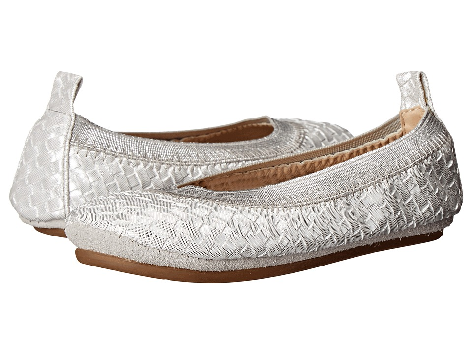 Yosi Samra Kids - Sammie Metalic Woven (Toddler) (Light Silver) Girl's Shoes