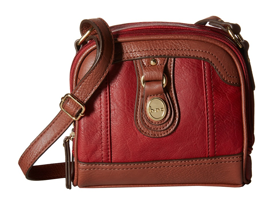 b.o.c. - Ashford Camera Crossbody (Burgundy/Walnut) Cross Body Handbags