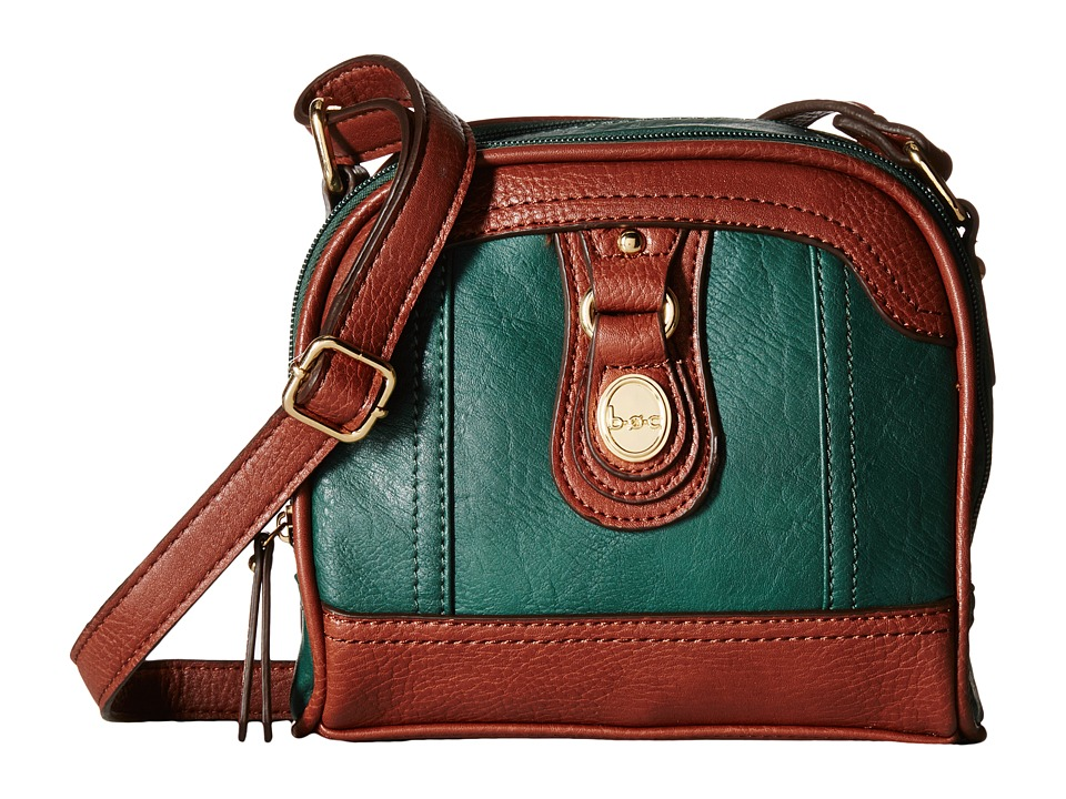b.o.c. - Ashford Camera Crossbody (Hunter/Walnut) Cross Body Handbags