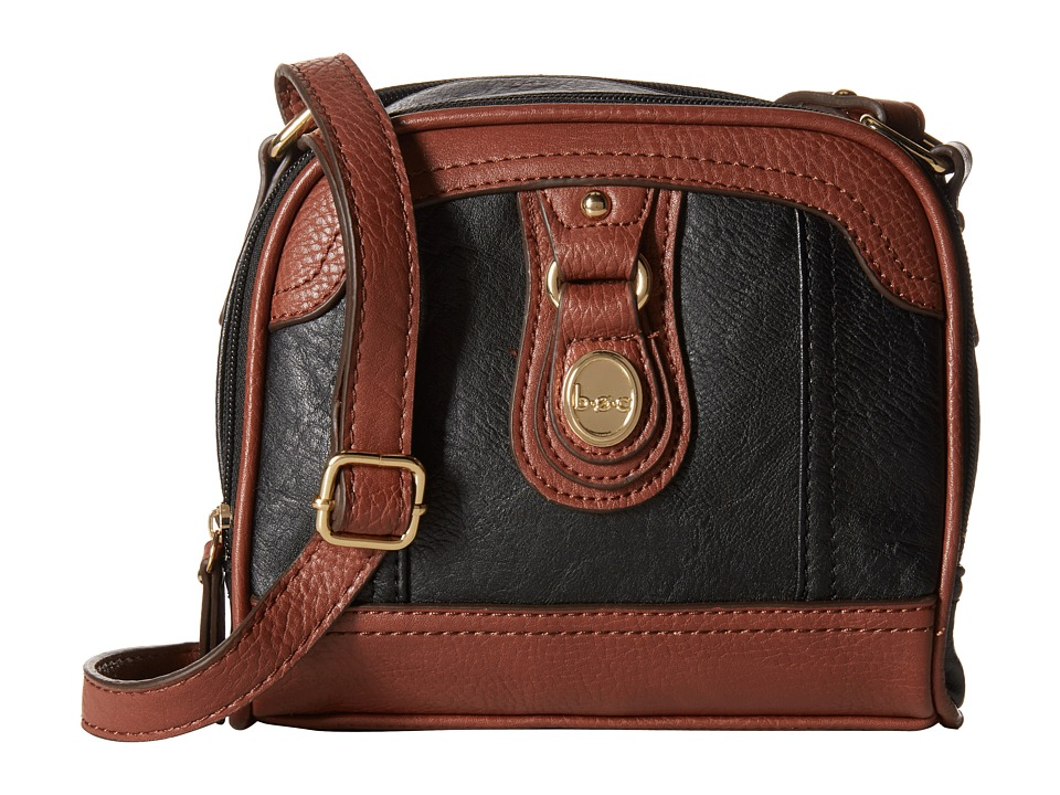 b.o.c. - Ashford Camera Crossbody (Black/Walnut) Cross Body Handbags