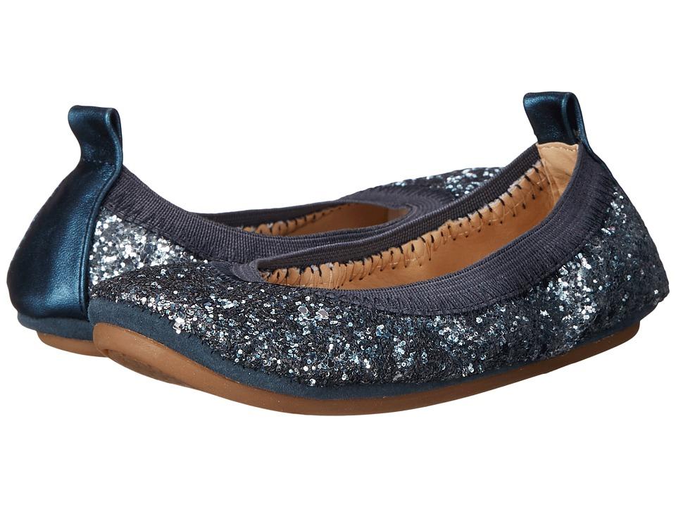 Yosi Samra Kids - Sonya Ombre Chunky Glitter (Toddler) (Mezzo Blue Ombre Glitter) Girl's Shoes