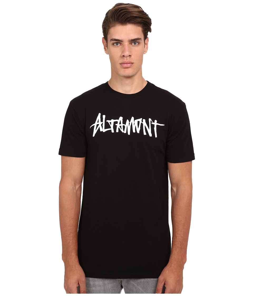 Altamont - One Liner (Black) Men's Short Sleeve Pullover