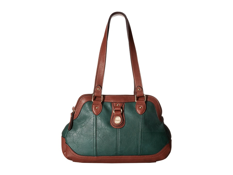 b.o.c. - Ashford Satchel (Hunter/Walnut) Satchel Handbags
