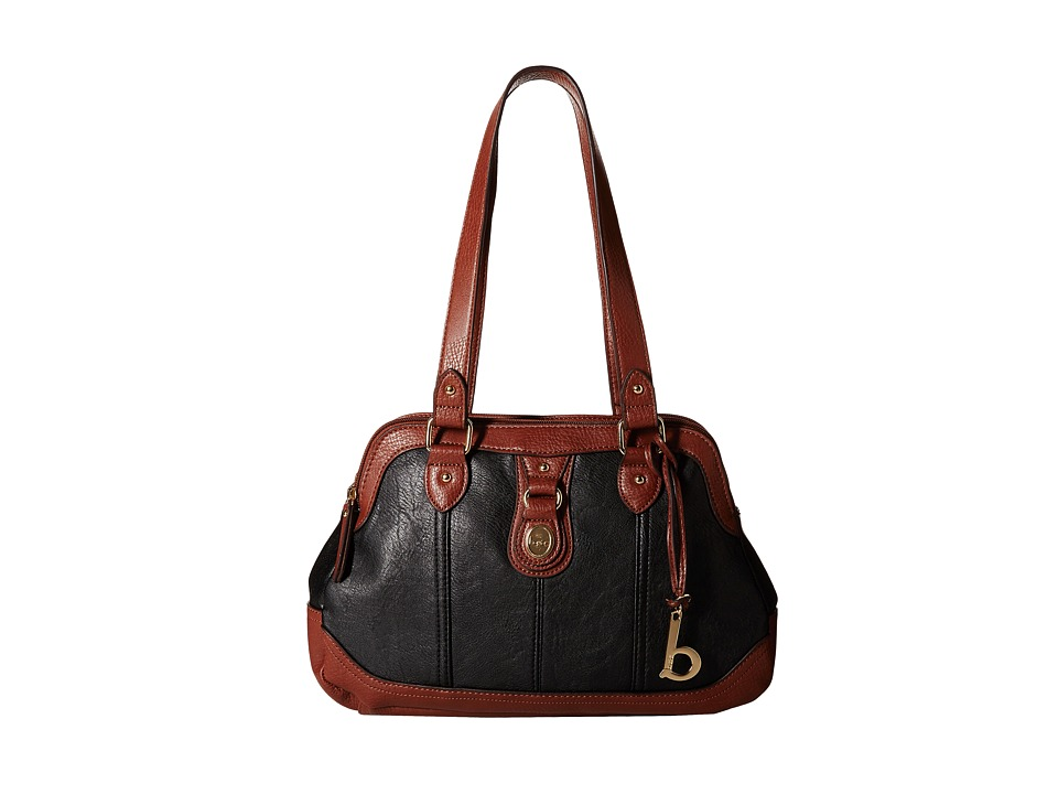 b.o.c. - Ashford Satchel (Black/Walnut) Satchel Handbags