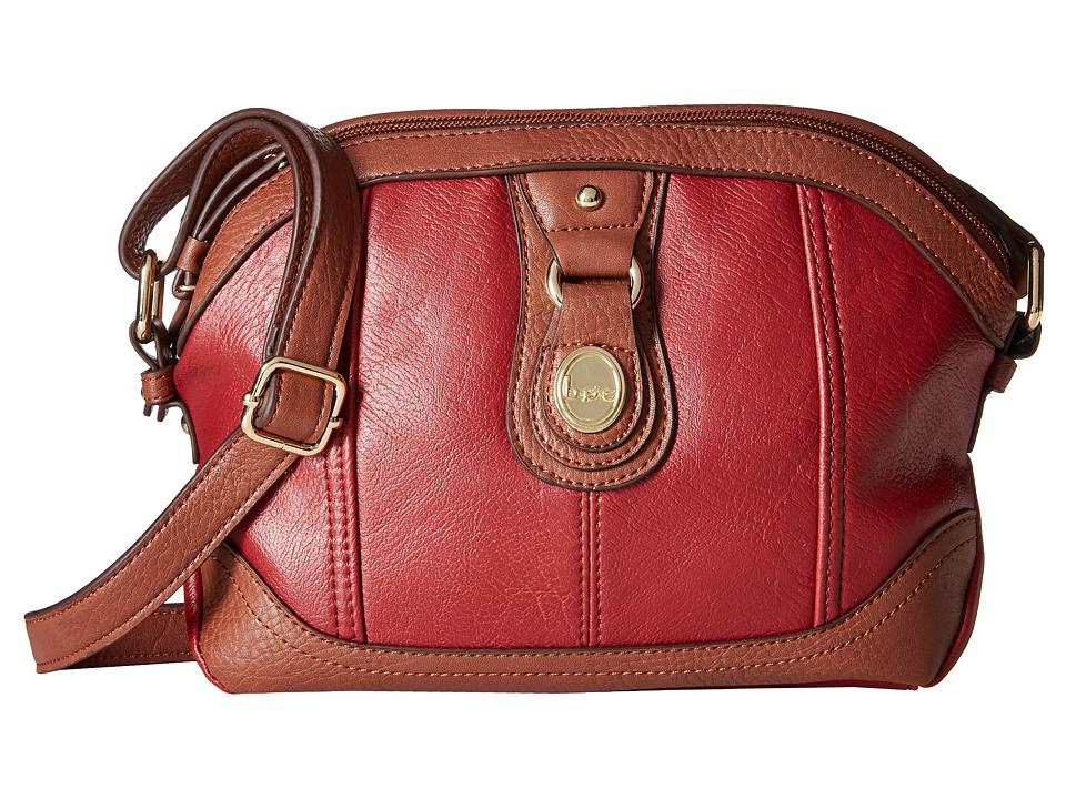 Image of b.o.c. - Ashford Dome Crossbody (Burgundy) Cross Body Handbags