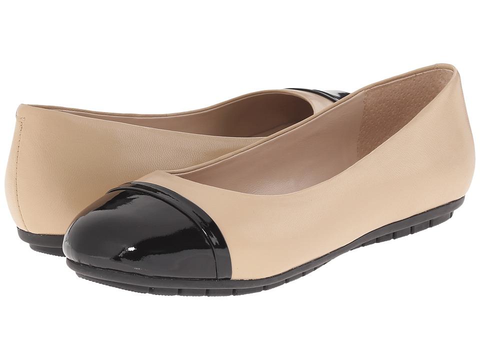 Nicole Miller Artelier - Grace 2 (Nude Leather/Black Patten) Women's Shoes
