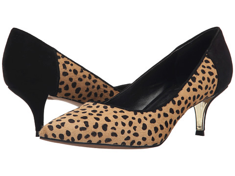 Nicole Miller Artelier - Sophie 2 (Dark Brown Leopard Pony/Black Suede) Women's Shoes