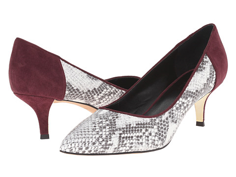 Nicole Miller Artelier - Sophie 2 (Wine Suede/Black/White Snake) Women's Shoes