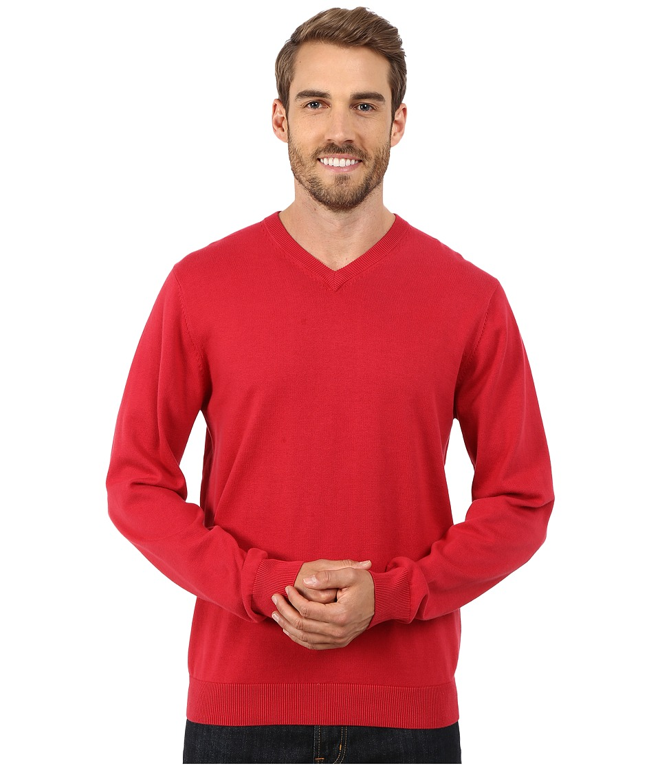 Report Collection - V-Neck Sweater (Red) Men's Sweater