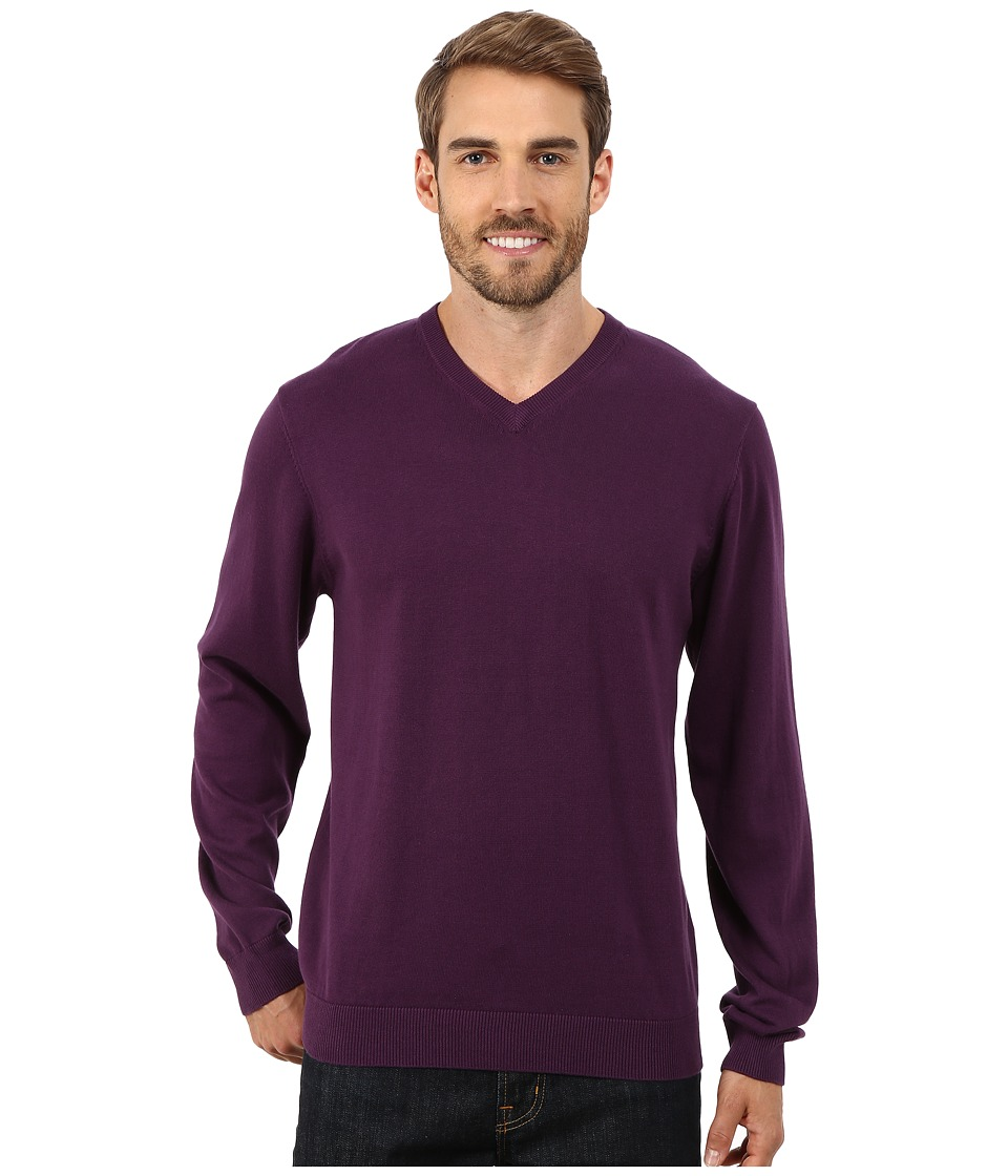 Report Collection - V-Neck Sweater (Plum) Men's Sweater