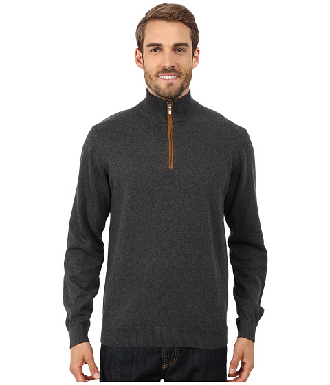 Report Collection - 1/4 Zip Sweater (Charcoal) Men