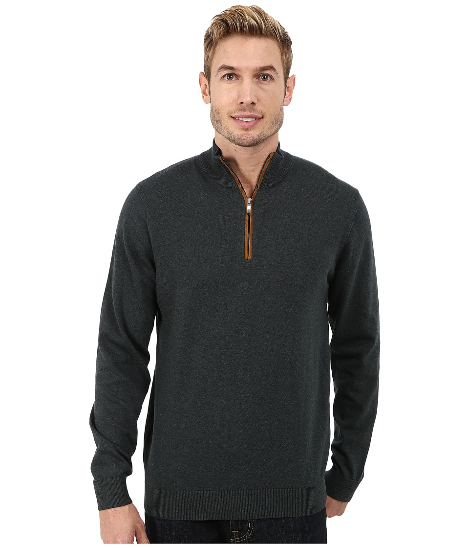 Report Collection - 1/4 Zip Sweater (Forest Green) Men's Sweater