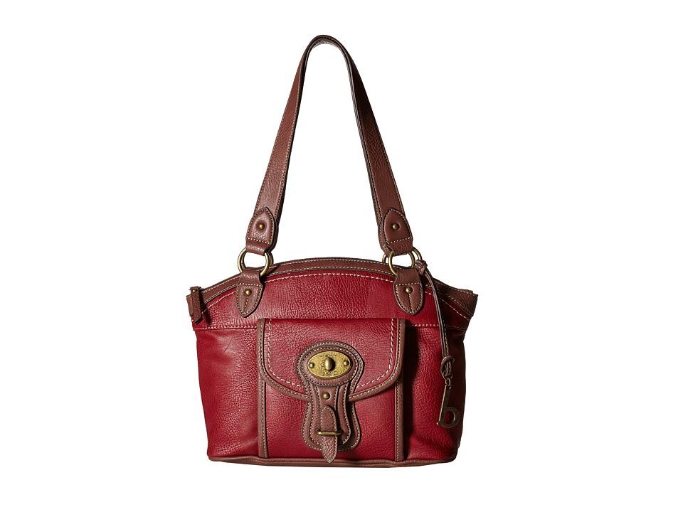 b.o.c. - Chelmsford Satchel (Burgundy/Walnut) Satchel Handbags