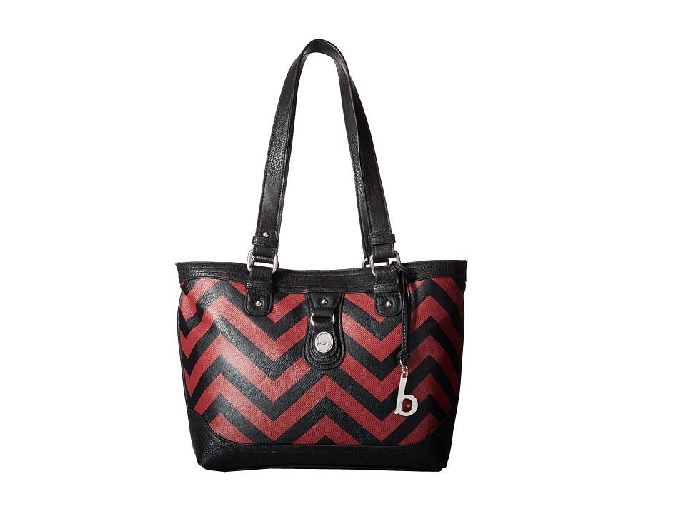 b.o.c. - Swansea Tote (Black/Burgundy) Tote Handbags