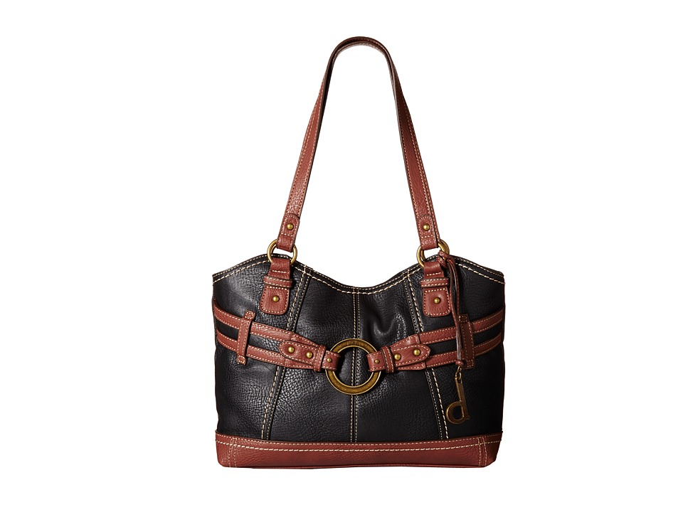b.o.c. - Brimfield Scoop Tote (Black/Walnut) Tote Handbags