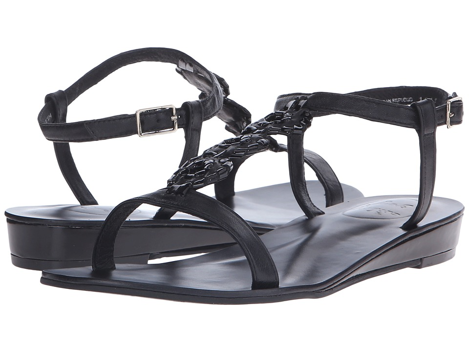 Jack Rogers - Eve (Black/Black Patent) Women's Sandals