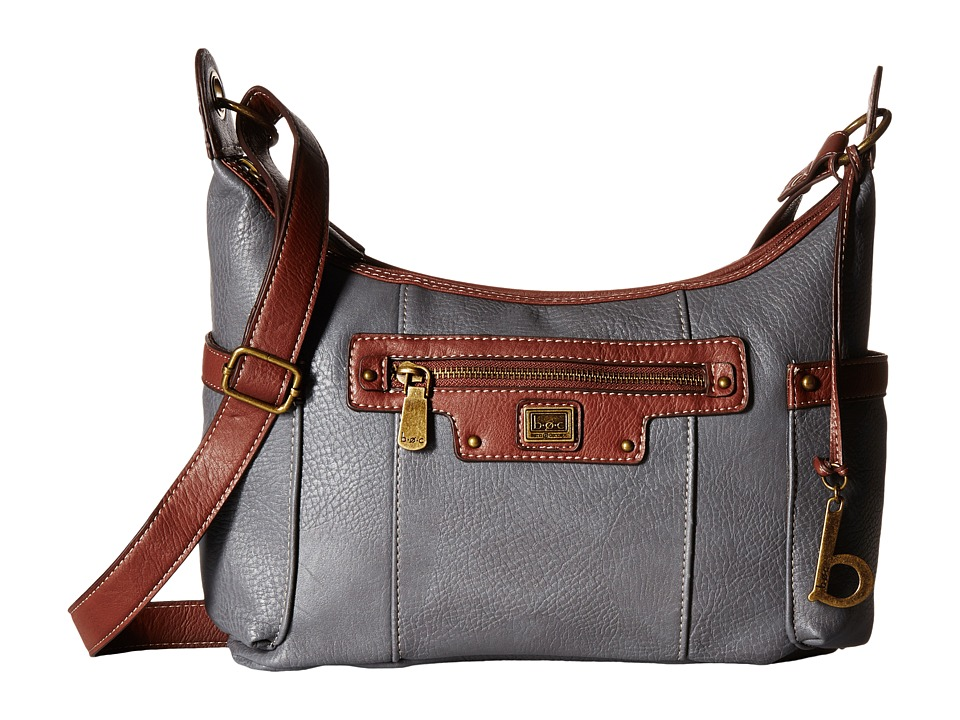 b.o.c. - Lancaster Scoop Crossbody (Grey/Walnut) Cross Body Handbags
