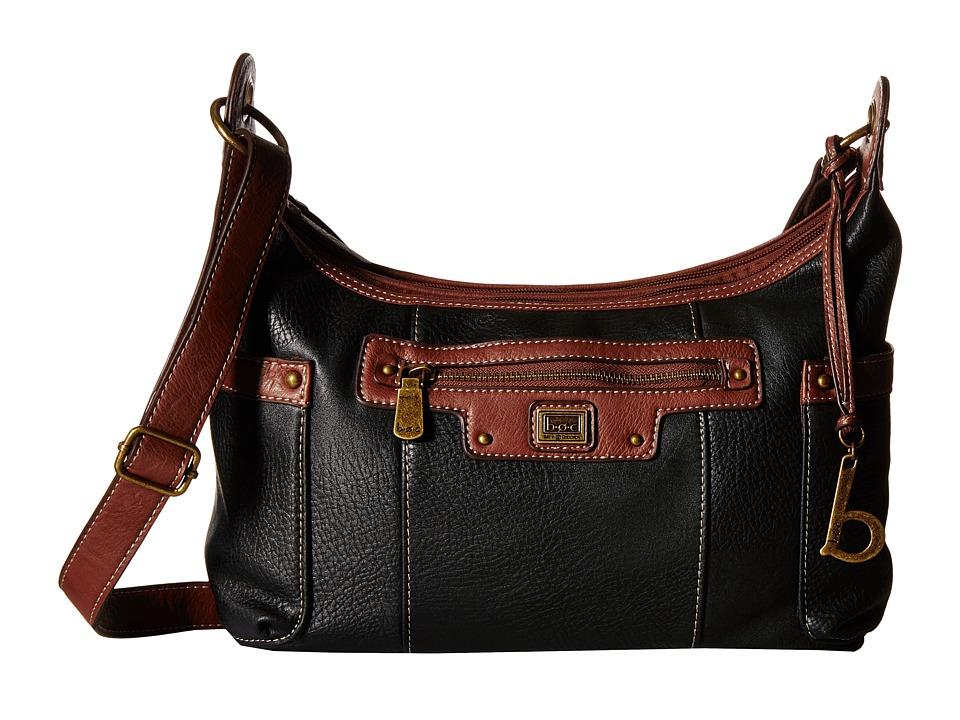b.o.c. - Lancaster Scoop Crossbody (Black/Walnut) Cross Body Handbags