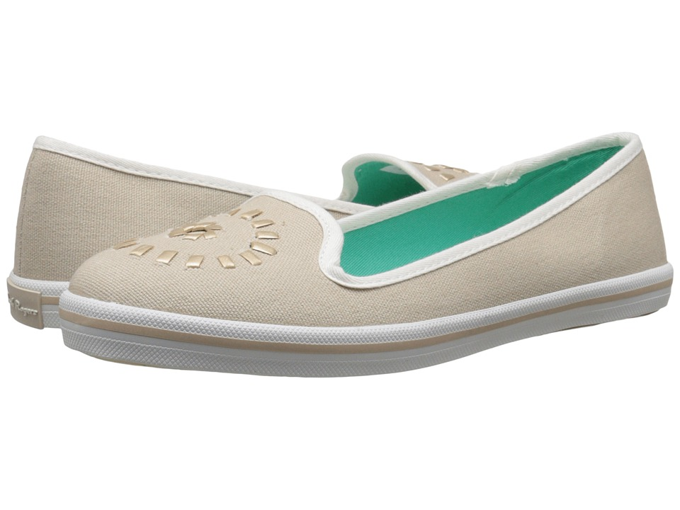 Jack Rogers Mila Canvas (Natural/Gold) Women