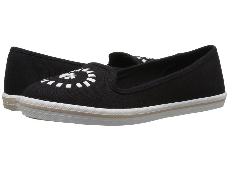 Jack Rogers - Mila Canvas (Black/White) Women's Slip on Shoes
