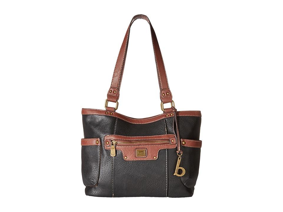 b.o.c. - Lancaster Tote (Black/Walnut) Tote Handbags