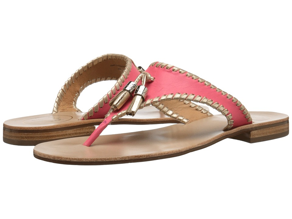 Jack Rogers Alana (Bright Pink/Gold) Women