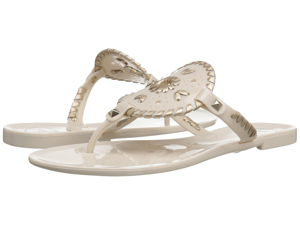 Jack Rogers - Georgica Jelly (Bone/Gold) Women's Sandals